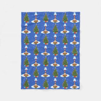 Schläfrige Elf-u. Weihnachtsbaum-Fleece-Decke Fleecedecke