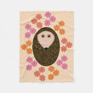 Schläfrige Igels-und Blumen-Fleece-Decke Fleecedecke