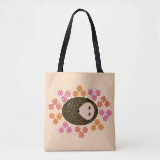 Schläfrige Igels-und Blumen-Taschen-Tasche Tasche