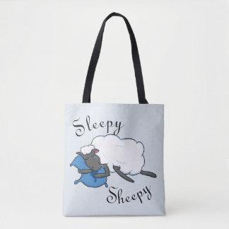 Schläfrige Sheepy Taschen-Tasche Tasche