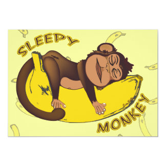 Schläfriger Affe-Schlaf über Einladungen