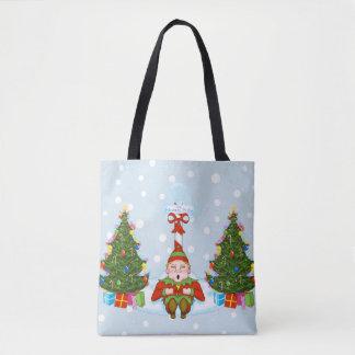 Schläfriger Elf unter Tasche