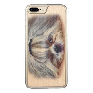 Schläfriger Hund Shih Tzu Carved iPhone 8 Plus/7 Plus Hülle