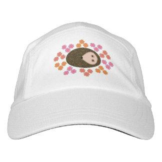 Schläfriger Igel und Blumen-Hut Headsweats Kappe