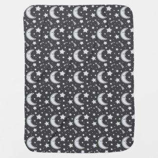 Schläfriger Mond - dunkelgraue Babydecke