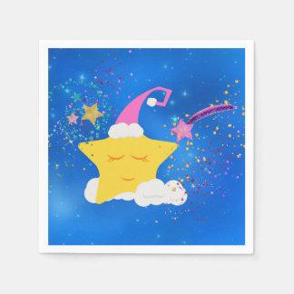 Schläfriger Stern-blauer sternenklarer Himmel Serviette
