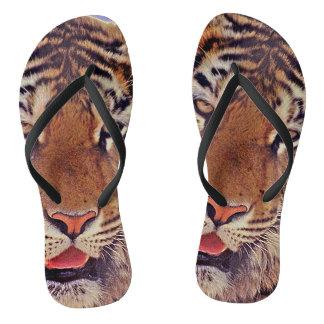 Schläfriger Tiger Flip Flops