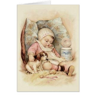 Schläfriges Baby Karte