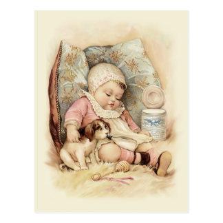 Schläfriges Baby Postkarte