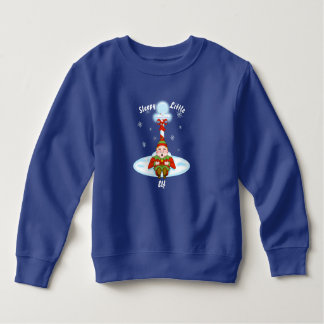 Schläfriges Elf-Kleinkind-Fleece-Sweatshirt Sweatshirt