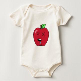 Schläfriges geiferndes rotes Apple Baby Strampler