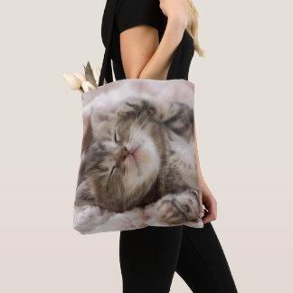 Schläfriges Kätzchen Tasche