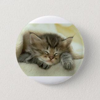 Schläfriges Nickerchen-Zeit-Kätzchen Runder Button 5,1 Cm