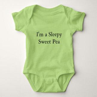 Schläfriges süße Erbsen-Baby-einteiliger Baby Strampler