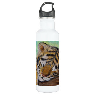 Schläfriges Tigerjunges Trinkflasche