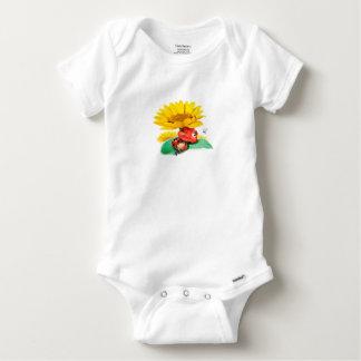 Schläfriges wenig Marienkäfer babygrow Baby Strampler