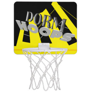 Schlafsaal-Bandschwarzes und -gold Mini Basketball Ring