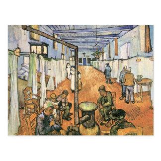 Schlafsaal im Krankenhaus in Arles durch Van Gogh Postkarte