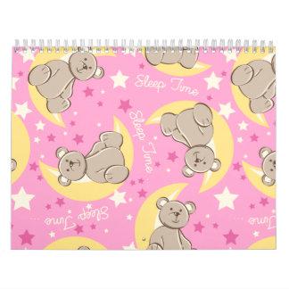 Schlafzeitbär Wandkalender