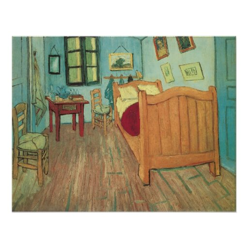 Schlafzimmer In Arles : Schlafzimmer in Arles durch Vincent van Gogh Poster  Zazzle