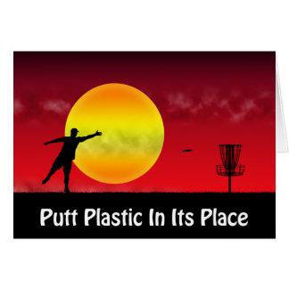 Schlag-Plastik in seinem Platz Karte