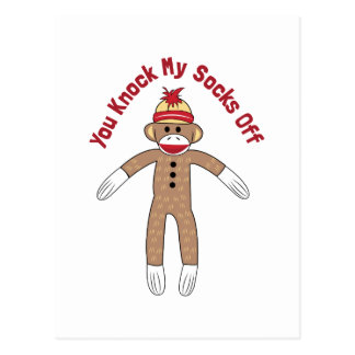 Schlag-Socken weg Postkarte