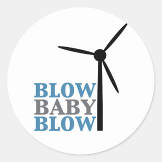 Schlagbabyschlag (Windenergie) Runder Aufkleber