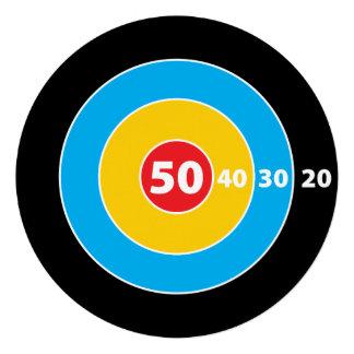 Schlagen 50 Ziel-Jäger-der 50 Personalisierte Einladungskarte