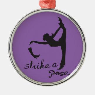 Schlagen Sie einen Pose ~ Tänzer u. Yoga ein Silbernes Ornament