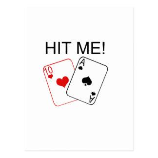 SCHLAGEN SIE MICH! Blackjack Postkarte