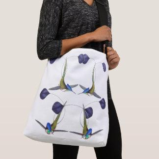 Schläger-Kolibri-Vogel-Tier-Tier-Taschen-Tasche Tragetaschen Mit Langen Trägern