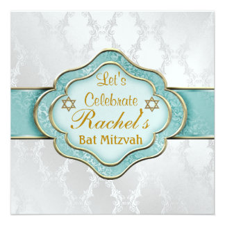 Schläger Mitzvah Einladungen MINZEN-GRÜN ELEGANTER