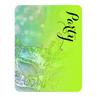 Schläger Mitzvah elegante Maske Limon Personalisierte Ankündigungen
