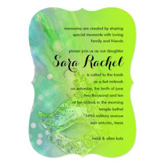 Schläger Mitzvah elegante Maske Limon Personalisierte Einladungskarten
