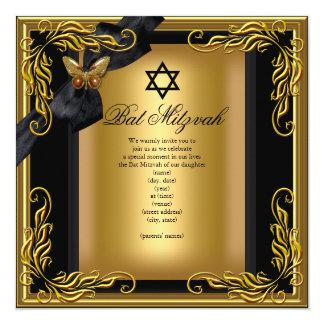 Schläger Mitzvah eleganter Quadratische 13,3 Cm Einladungskarte