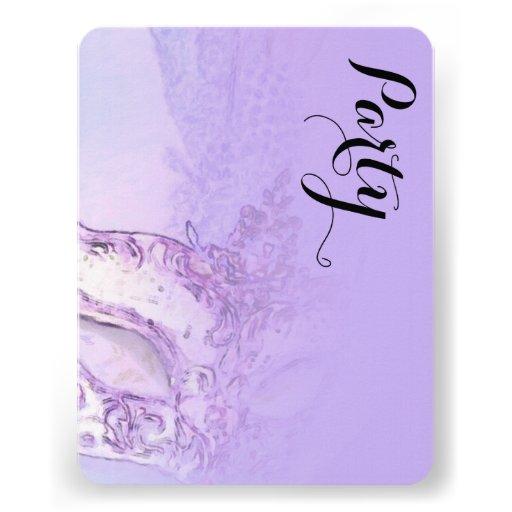 Schläger Mitzvah eleganter Masken-Lavendel Individuelle Ankündigskarten