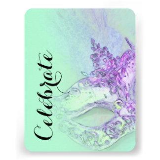 Schläger Mitzvah elegantes Masken-Aqua Individuelle Ankündigung