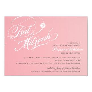 SCHLÄGER MITZVAH LÄDT stilvolles Typografie ombre 12,7 X 17,8 Cm Einladungskarte