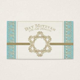 Schläger Mitzvah Prinzessin Davidsstern Champagne Visitenkarte