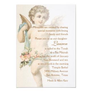 Schläger Mitzvah Renaissance-Engel Personalisierte Einladungen