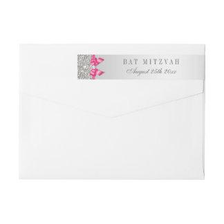 Schläger Mitzvah silberner Paillette-Pink-Bogen