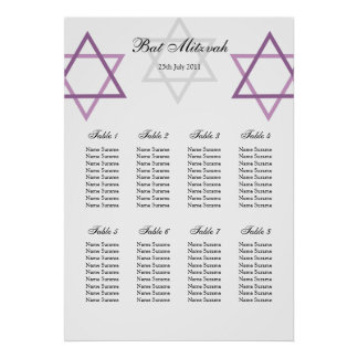 Schläger Mitzvah Tabellen-Sitzplatz-Plan Poster