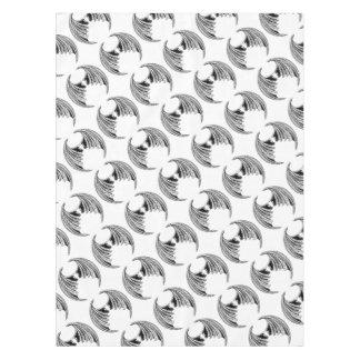 Schläger-oder Drache-Flügel-Entwurf Tischdecke