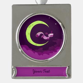 Schläger-Ohrige Nacht Fox Halloween Banner-Ornament Silber