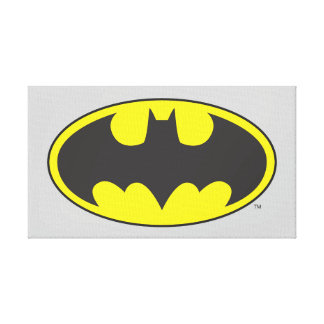 Schläger-Oval-Logo Batman-Symbol-| Leinwand Druck