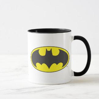 Schläger-Oval-Logo Batman-Symbol-  Tasse