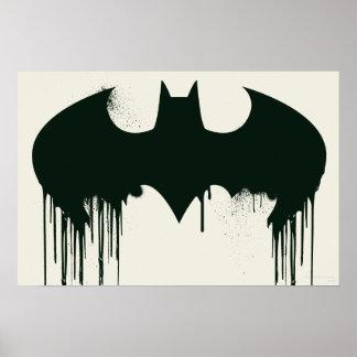 Schläger-Symbol - Batman-Logo Spraypaint Poster
