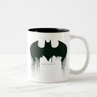 Schläger-Symbol - Batman-Logo Spraypaint Zweifarbige Tasse