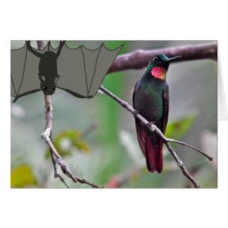 Schläger und Kolibri Karte