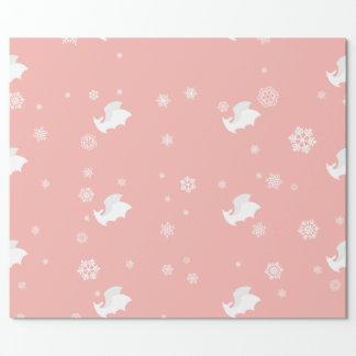 Schläger und Schneeflocke-Packpapier Geschenkpapier